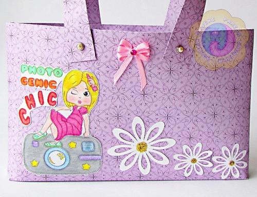 caja en forma de cartera, para regalos, recuerdos y más.