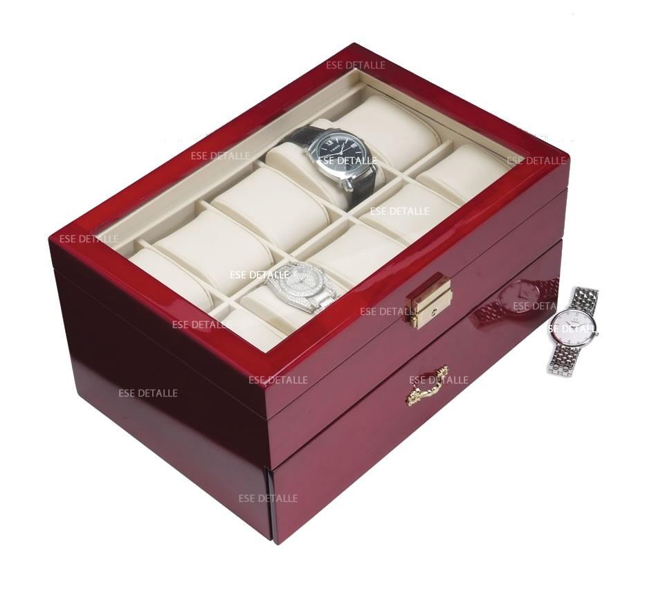 Caja estuche de madera para guardar 20 relojes 2 899 - Cajas para guardar herramientas ...