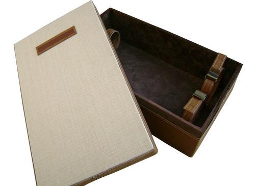 caja estuche para vino 2 bot.