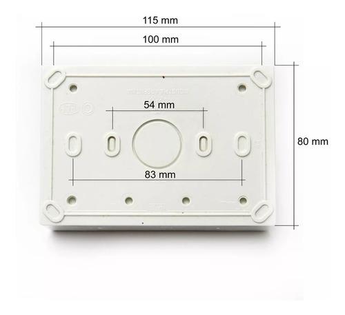 caja exterior 4 modulos ip40 siglo xxii cambre 4264 blanca