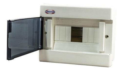 caja exterior 8 modulos ip40 c/tapa fume luxury elect.av