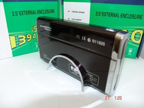 caja externa para disco duro sata 3.5 + disco  sata 500gb
