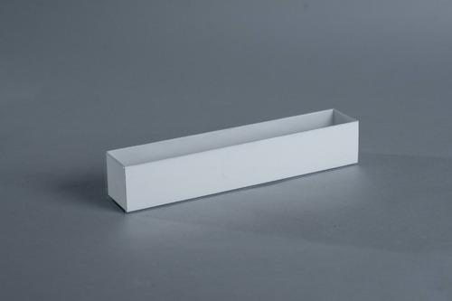 caja fosforera pvc 31x5,5x5,5 cm (x 50 u.)  +/- 12 macarons alfajores accesorios souvenirs acetato - 064c bauletto