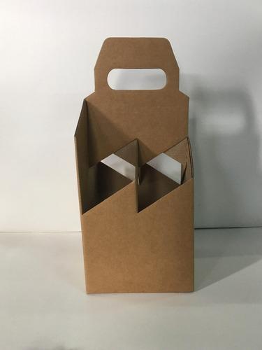 caja four pack para porrones de cerveza de 355 cm3. x10un
