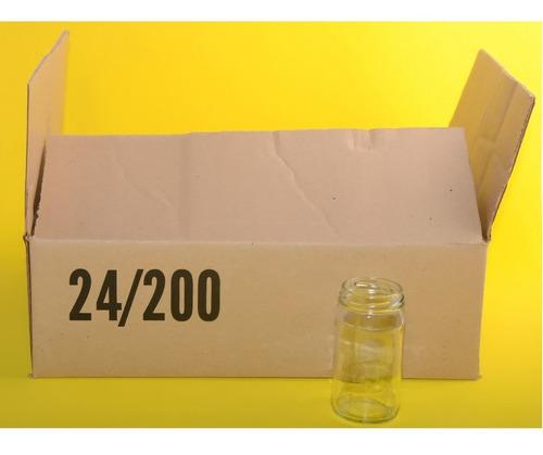 caja frascos vidrio 200 ml 24 unidades