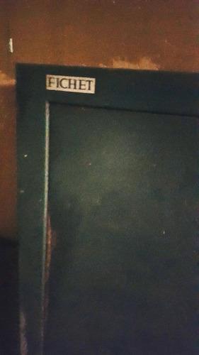 caja fuerte antigua marca  fichet y archivador  detroit