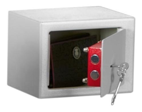 caja fuerte arnik con llave 17x23x17 blanco pequeña