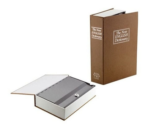 caja fuerte camuflaje forma de libro diccionario 18cm