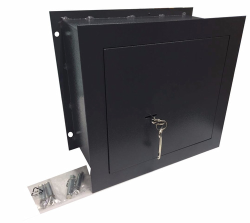 caja fuerte cofre de seguridad para amurar 31 x 15 x 29 cm
