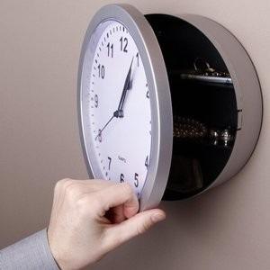 caja fuerte de seguridad camuflada como reloj d pared!!