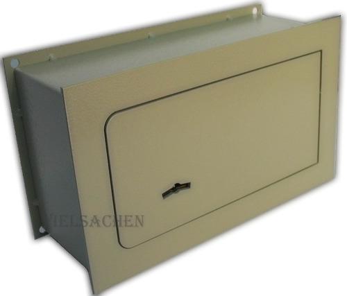 caja fuerte de seguridad para amurar en pared 30x20x9cm
