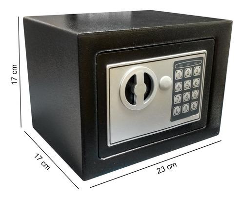caja fuerte digital 23x17x17 cm con llave de seguridad