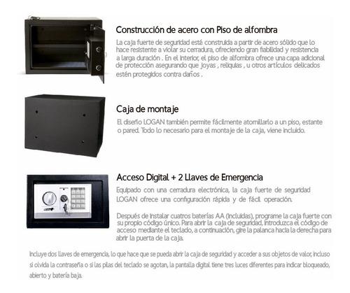 caja fuerte digital color azul incluye baterías y llaves