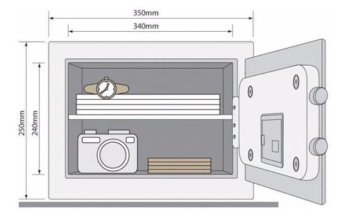caja fuerte digital, yale, tamaño mediano, 25x35x25 cm