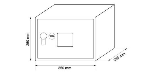 caja fuerte electronic safe medium 84836 yale