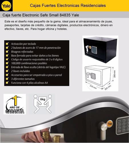 caja fuerte electronic safe small 84835 yale t0344