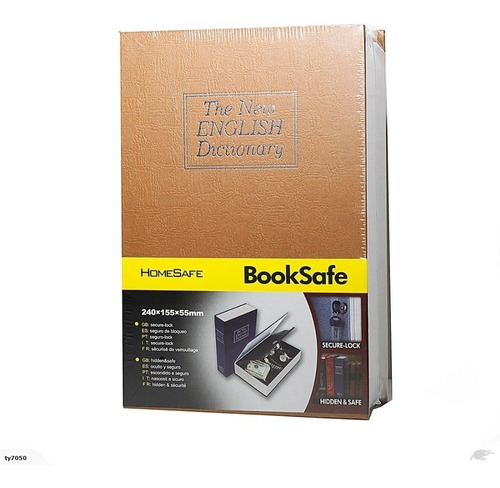 caja fuerte en forma de libro - combinación numérica o llave