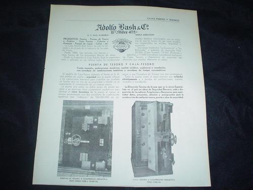 caja fuerte la comercial adolfo bash tesoro publicidad 1935