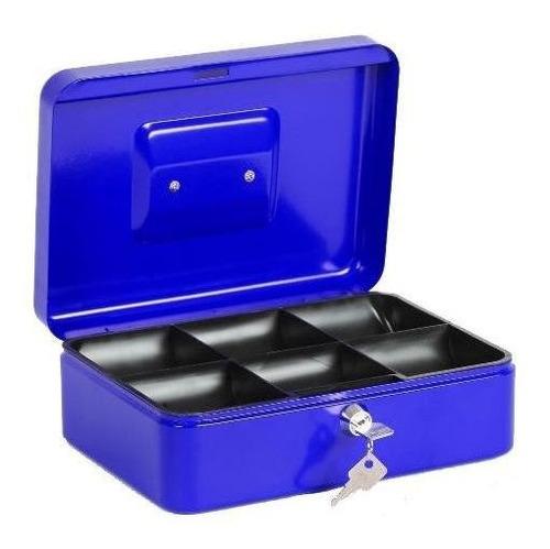 caja fuerte metalica 250mm seguridad llaves 70752 / gocy