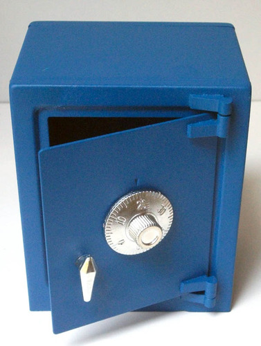 caja fuerte metalica tipo alcancia, abre con combinacion maa