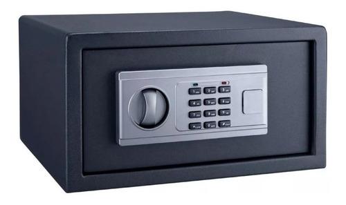 caja fuerte seguridad digital + llave + teclado 35x26x19 tc