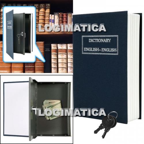 caja fuerte simulada libro 180x115x54 mm cofre porta valores