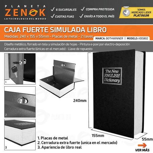 caja fuerte simulada libro 240x155x55mm cofre porta valores