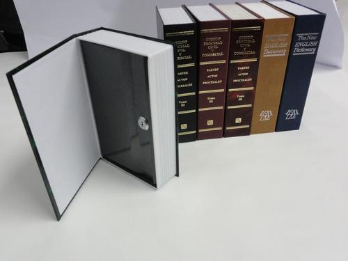 caja fuerte simulando libro cofre portavalores 240x155x55 mm