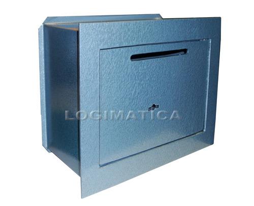 caja fuerte tesoro de empotrar logimatica 20x23cm con buzón