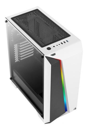 caja gabinete aerocool cylon pro rgb - blanca