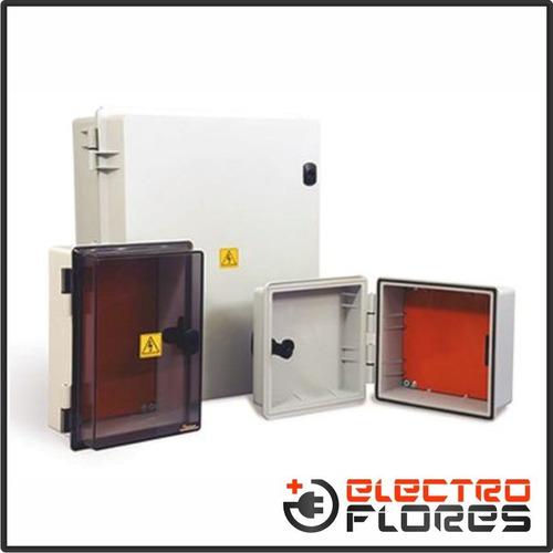 caja gabinete estanco pvc roker ip65 prg 348 - 435x525x180mm