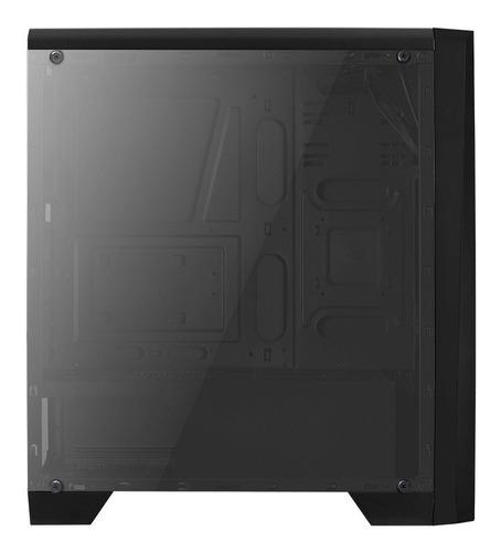 caja gabinete gamer aerocool cylon vt tira rgb + fan 120mm
