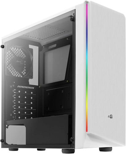 caja gabinete gamer aerocool rift blanca