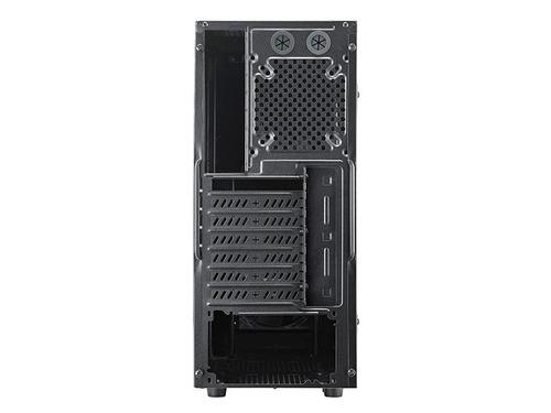 caja gamer cooler master k380, ventana, 1 venti led rojo