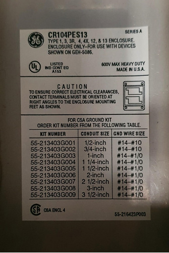 caja ge de botones pulsadores cr104pes13