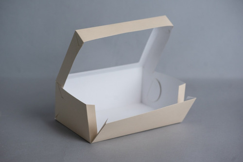 caja grande 26x18x10cm c/visor (x 50u.) desayunos sandwiches pvc acetato - 053 bauletto