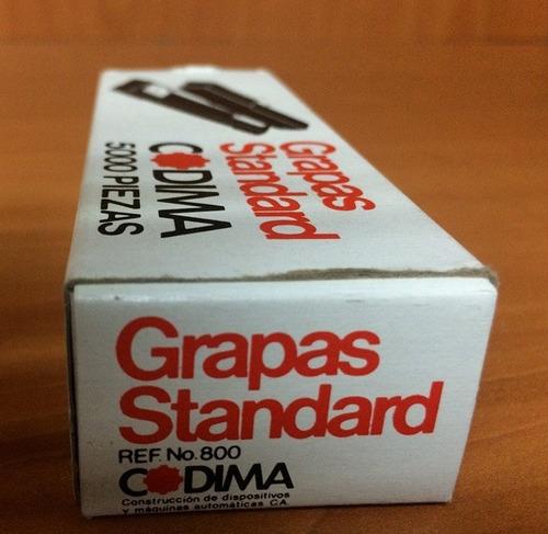 caja grapas standard lisas codima   -0036