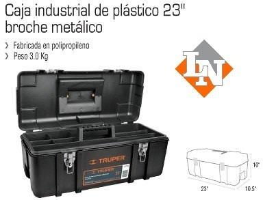 caja herramienta 23  truper reforzada - broches metálicos