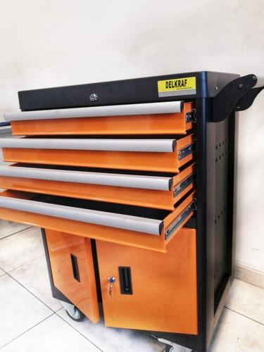 caja herramienta gabinete taller metálico cajón - delkraf