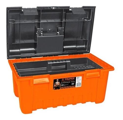 caja herramientas (55x31x28) naranja truper cha-22n