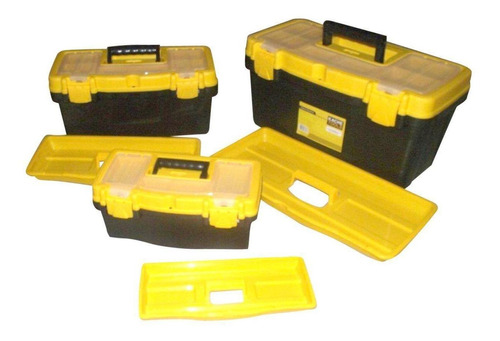 caja herramientas con tapa organizadora 3pcs 12`,16`,19` hl3