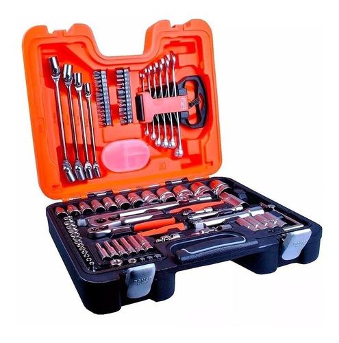 caja herramientas llave tubo +acc 91 pz bahco s910-a pintumm