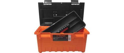 caja herramientas truper naranja 48 cm ancho con bandeja rep