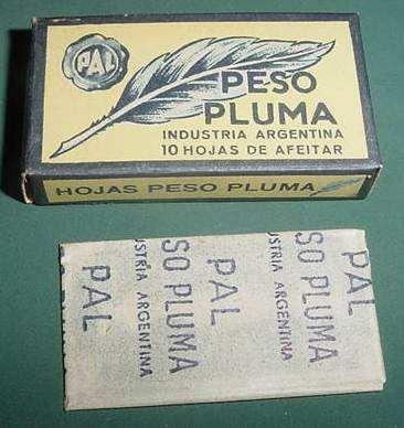 caja hojas de afeitar pal peso pluma argentina razor blades