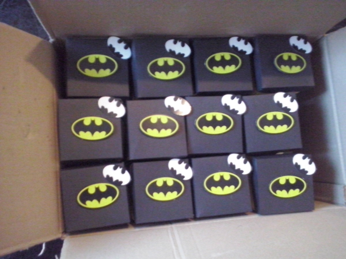 Caja Invitacion Batman $ 155 50 en Mercado Libre