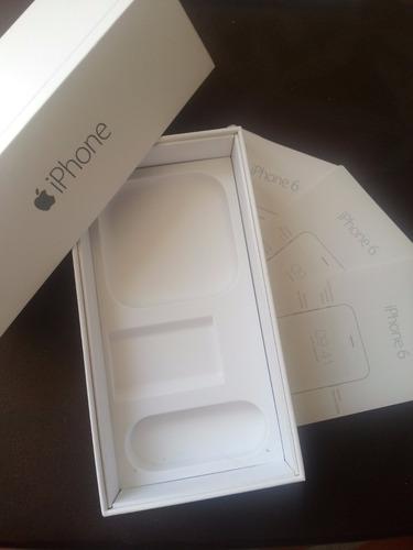 caja iphone 6 space gray, 16gb, solo caja y manuales