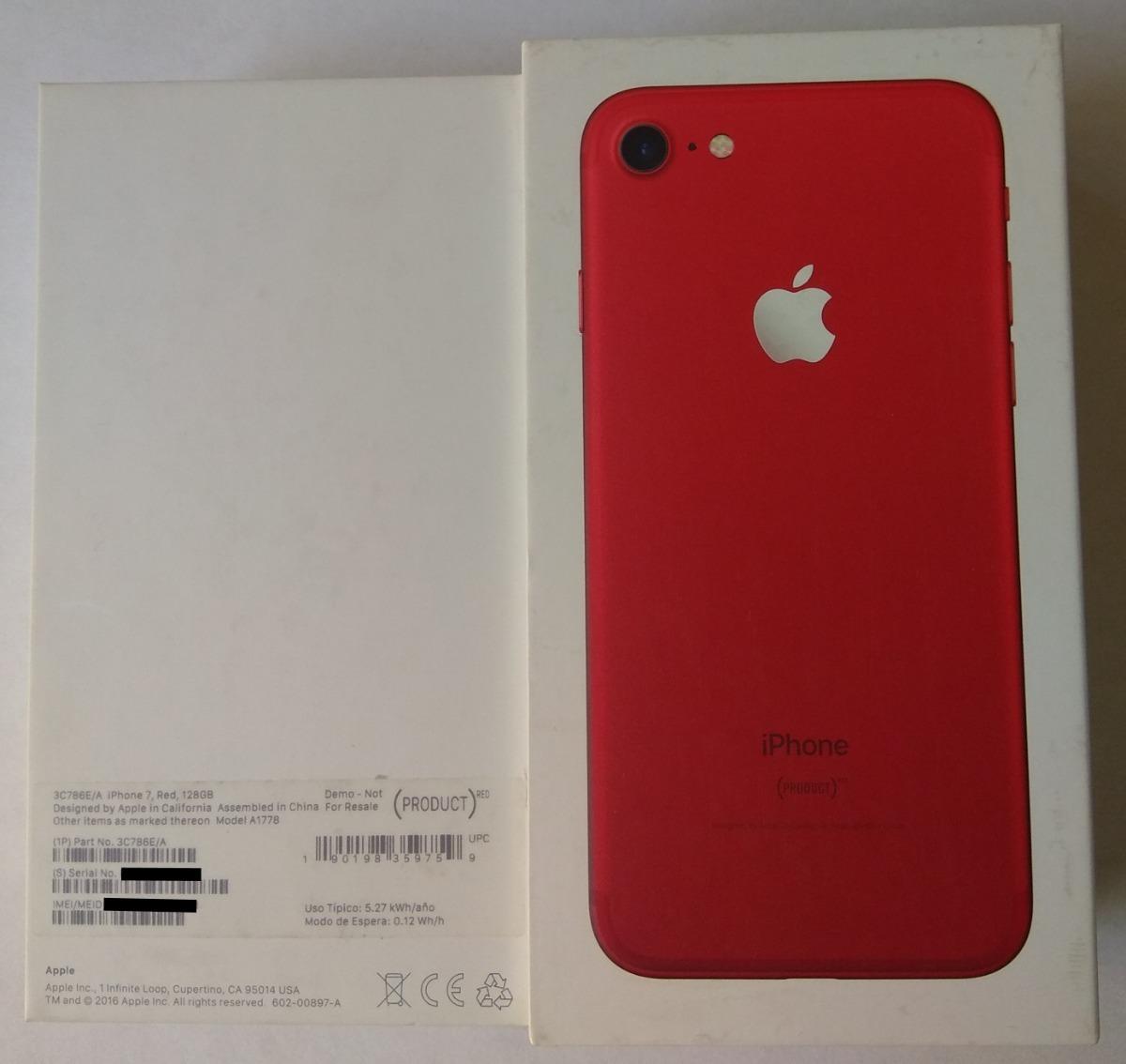 Caja Iphone 7 128 Gb Red Con Accesorios Nuevos Originales 79900 Apple Edition Cargando Zoom