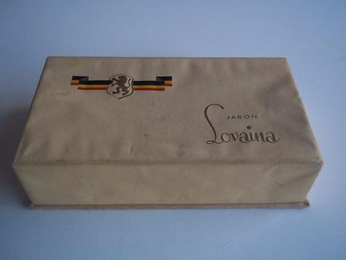 caja jabón lovaina 1950 algorta sa jabonera cartón 16x9x4 cm