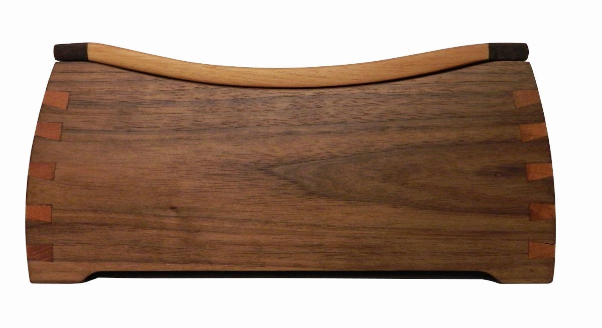 Caja joyero alhajero curvo en fina madera de nogal - Nogal americano muebles ...