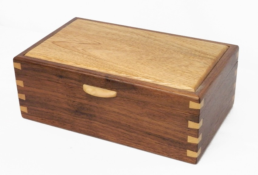 Caja joyero alhajero en finas maderas de cedro y nogal - Cajas de maderas ...